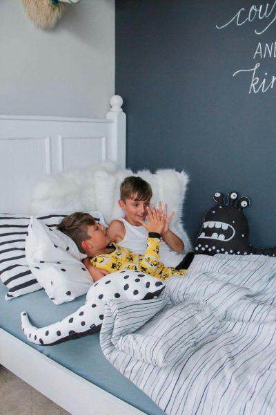 ooh noo bedding in a boys' room