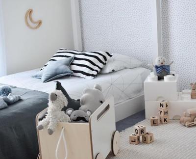 Boy's room with Geometric Web