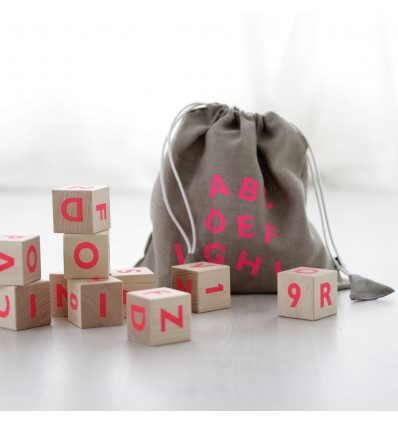 Alphabet blocks – neon pink