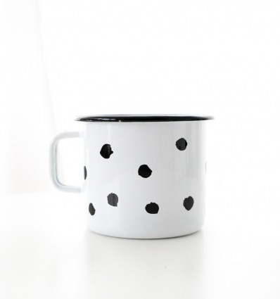 Spot to Dot Enamel Mug