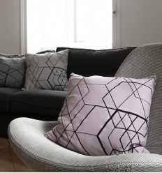 Matrix Cushion Cover - Pale Pink