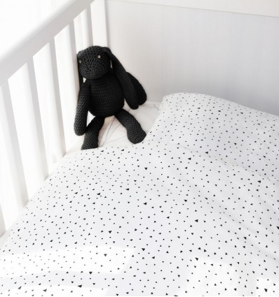 Tiny triangle baby duvet cover