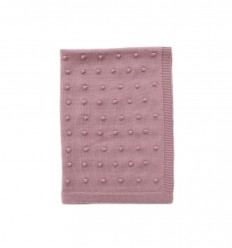 Popcorn Pram Blanket - Dusty Rose