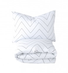Zigzag duvet cover&pillowcase - toddler bed