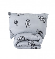 We, robots duvet cover&pillowcase - toddler bed