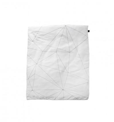 Geometric web toddler duvet cover