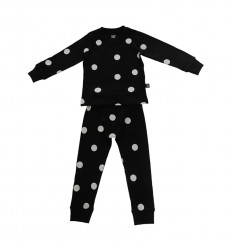 Pyjamas – Black with grey dots