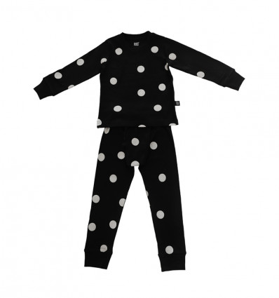 Pyjamas – Black with dots