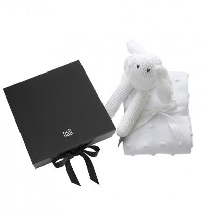 Popcorn Pram Blanket and Snow Rabbit