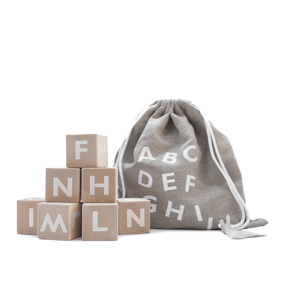 Alphabet blocks – white