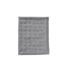 Popcorn Pram Blanket - Grey
