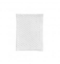 Hearts Blanket - White