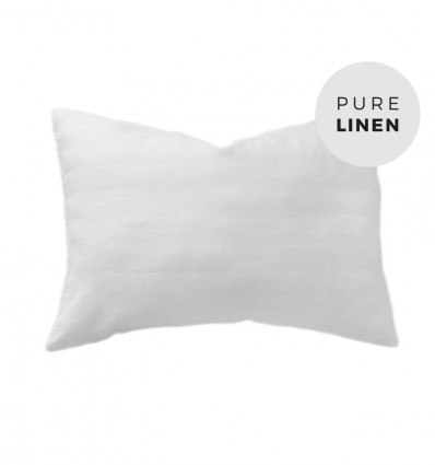 Pure white pillowcase