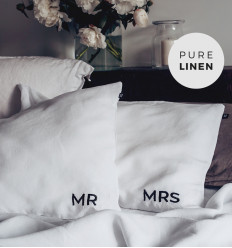 Embroidered Pillowcase Set - MRS & MR