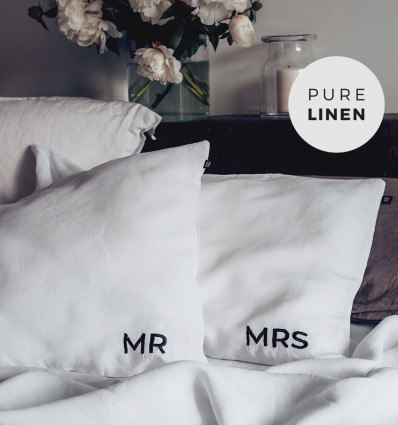 Embroidered Pillowcase - MRS & MR