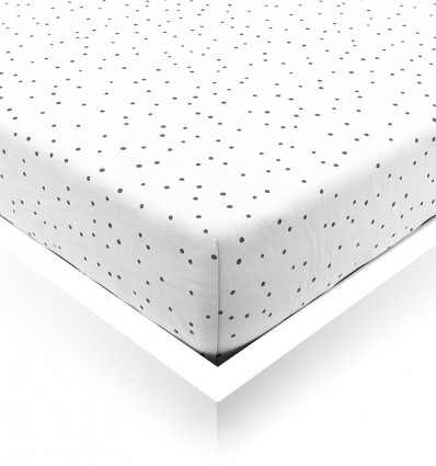 Black Confetti Fitted Sheet