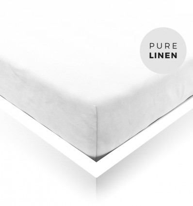 Pure White Toddler Fitted Sheet