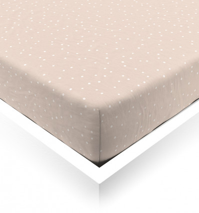 Powder Confetti Baby Fitted Sheet